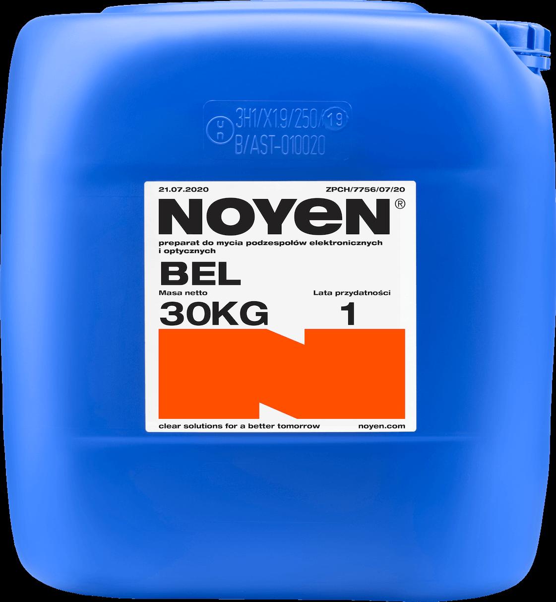 BEL NOYEN 30 KG preparat do mycia podzespołów elektronicznych i optycznych w niebieskim kanistrze