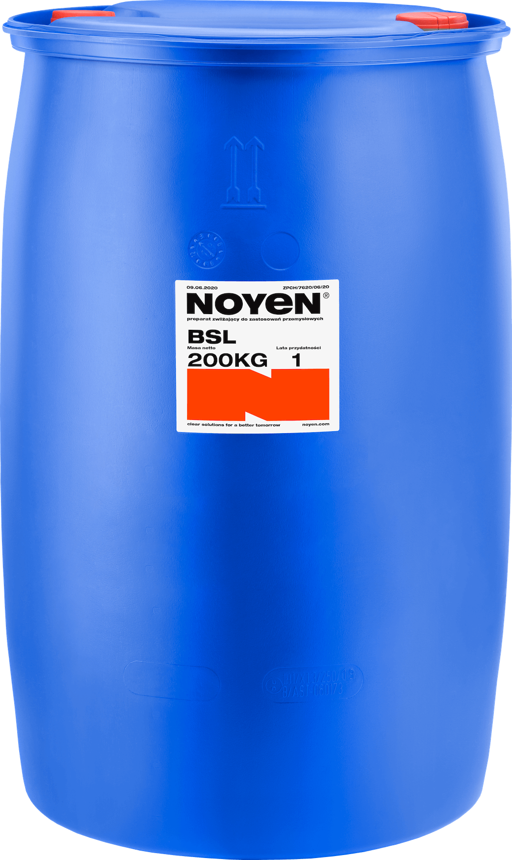BSA NOYEN 200 KG preparat zwilżający do zastosowań przemysłowych w niebieskiej beczce