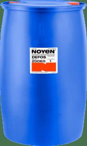 DEFOS NOYEN 200 KG wysokoalkaliczny, niskopieniący preparat do mycia zanieczyszczeń przemysłowych i usuwania powłok fosforanowych w niebieskiej beczce