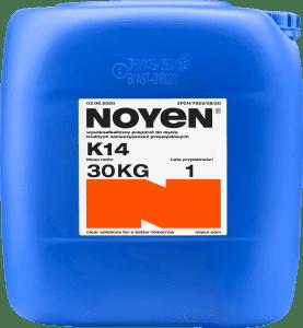K14 NOYEN 30 KG wysokoalkaiczny preparat do mycia trudnych zanieczyszczeń przemysłowych w niebieskim kanistrze