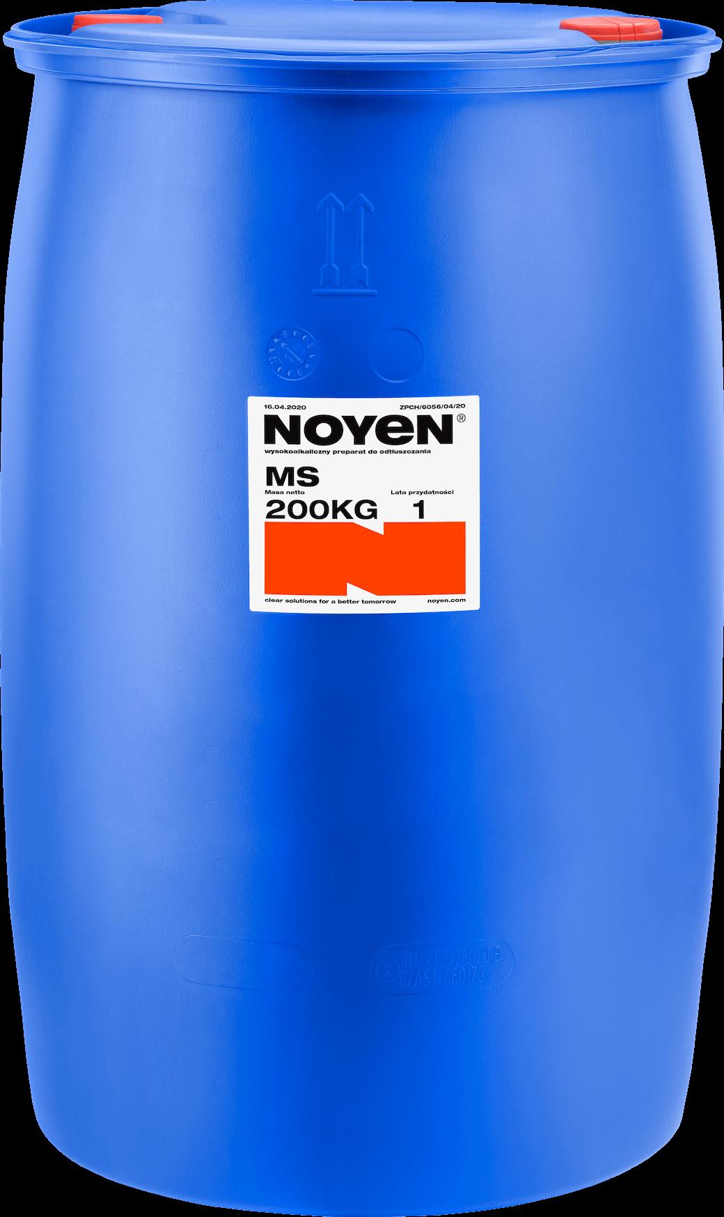 MS NOYEN 200 KG wysokoalkaiczny preparat do odtłuszczania w niebieskiej beczce