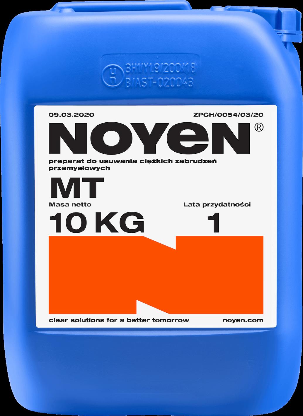 MT NOYEN 10 KG preparat do usuwania ciężkich zabrudzeń przemysłowych w niebieskim kanistrze