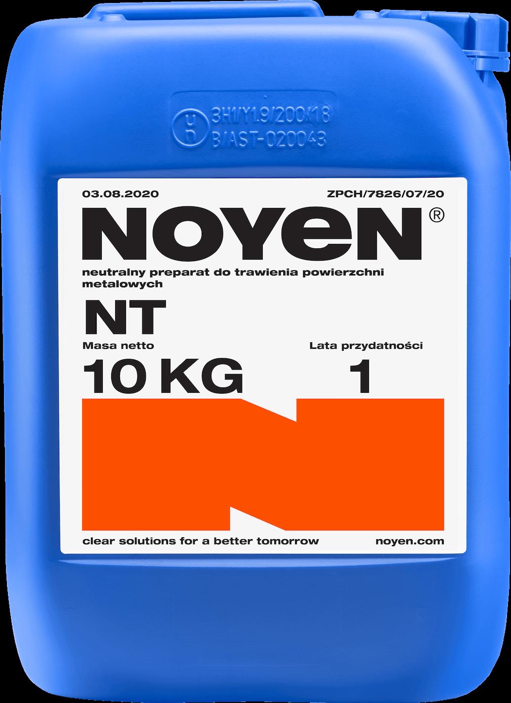 NT NOYEN 10 KG neutralny preparat do trawienia powierzchni metalowych w niebieskim kanistrze