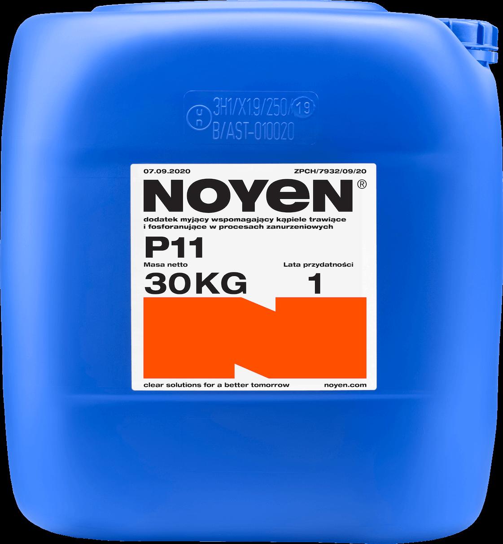 P11 NOYEN 30 KG dodatek myjący wspomagający kąpiele trawiące i fosforanujące w procesach zanurzeniowych w niebieskim kanistrze