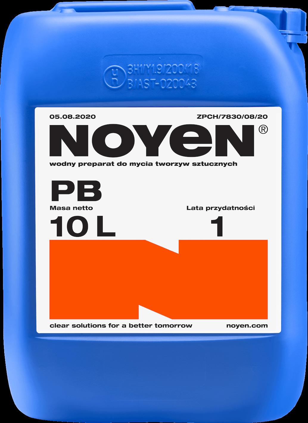 PB NOYEN 10l wodny preparat do mycia tworzyw sztucznych w niebieskim kanistrze