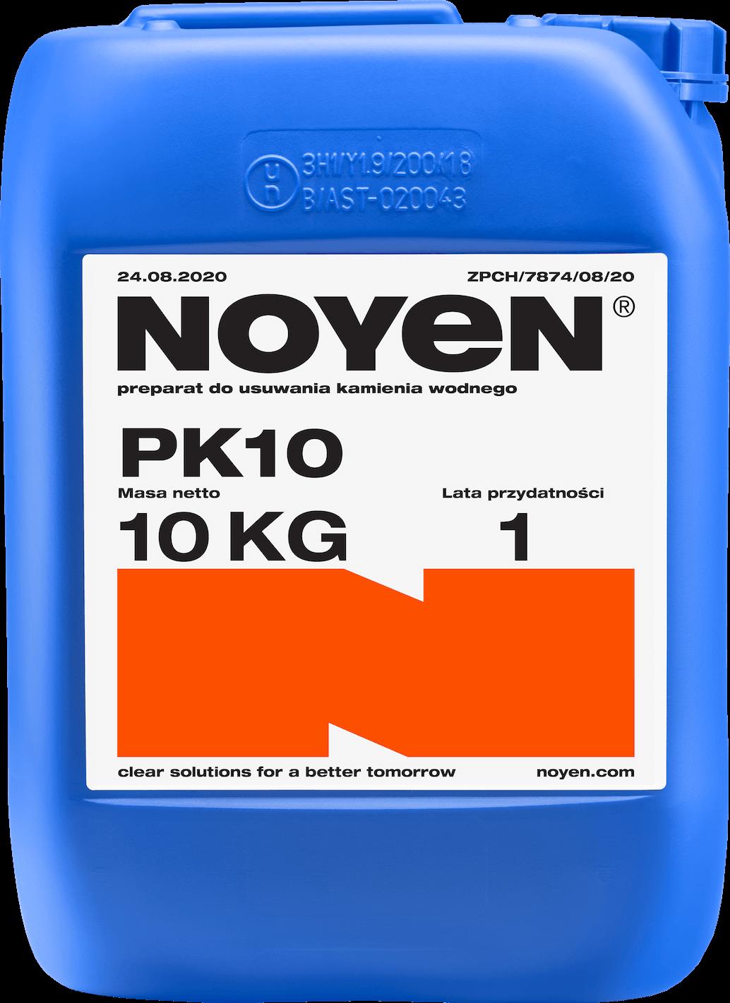 PK 10 NOYEN 10 KG preparat do usuwania kamienia wodnego w niebieskim kanistrze- zdjęcie max