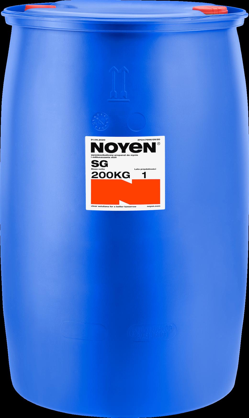 SG NOYEN 200 KG wysokoalkaiczny preparat do mycia i odtłuszczania stali w niebieskiej beczce