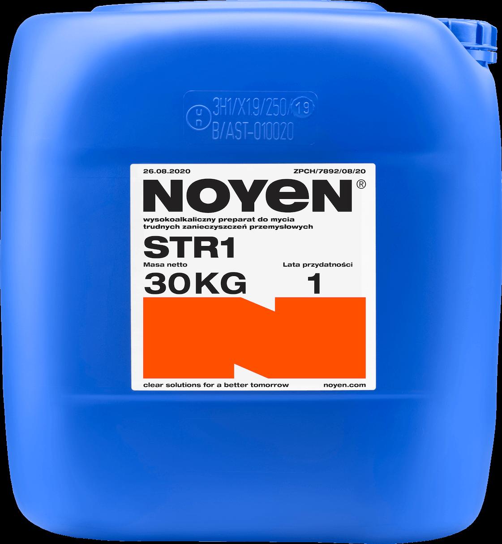 STR 1 NOYEN 30 KG wysokoalkaiczny preparat do mycia trudnych zanieczyszczeń przemysłowych w niebieskim kanistrze