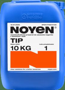 TIP NOYEN 10 KG wysokoalkaiczny preparat do usuwania nagarów z aluminium i stali w niebieskim kanistrze